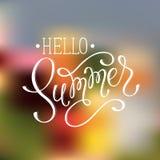 Welcome summer wording Stock Image