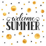 Welcome summer wording Royalty Free Stock Photos