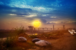 Welcome the Sunrise urban scene Royalty Free Stock Photography