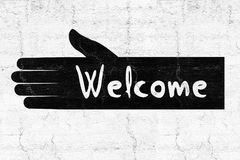 Welcome symbol Royalty Free Stock Photos