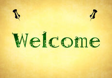 WELCOME. Tableau with 2 pins Royalty Free Stock Images