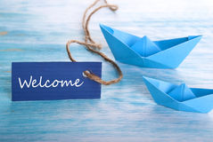 Welcome Tag Stock Image