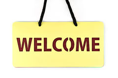 Welcome tag Stock Photo