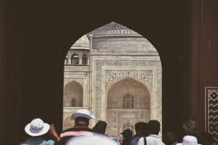 Welcome in the Taj Mahal. Royalty Free Stock Photography