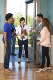 Welcome team in the lobby. Royalty Free Stock Photos