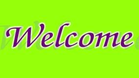 Welcome text chroma key animation
