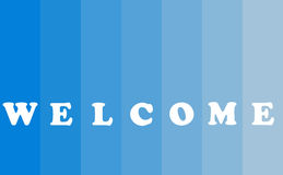 Welcome Text Concept. Welcome banner with text concept on blue background, color bar style, copy space Royalty Free Stock Image