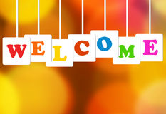 Welcome Text Concept. Welcome banner with text concept, copy space Royalty Free Stock Image