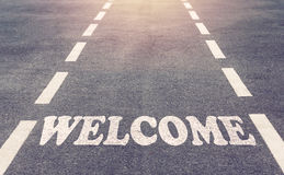 Welcome Text Concept Stock Image