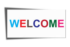 Welcome text Royalty Free Stock Photo