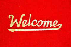 Welcome Text On Mat Stock Photos