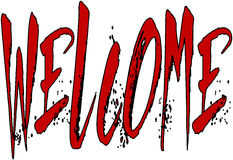 Welcome text sign illustration stock photos