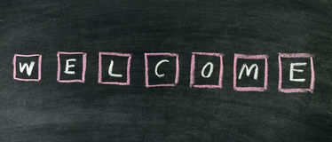 Welcome title Royalty Free Stock Image