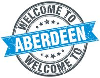 Welcome to Aberdeen stamp. Welcome to Aberdeen round grunge stamp isolated on white background. Aberdeen vector illustration