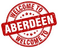 Welcome to Aberdeen stamp. Welcome to Aberdeen round grunge stamp isolated on white background. Aberdeen. welcome to Aberdeen stock illustration