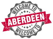 Welcome to Aberdeen seal. Welcome to Aberdeen round vintage seal vector illustration
