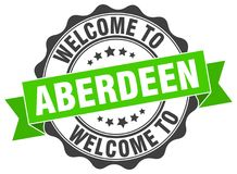 Welcome to Aberdeen seal. Welcome to Aberdeen round vintage seal stock illustration