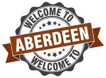 Welcome to Aberdeen seal. Welcome to Aberdeen round vintage seal royalty free illustration