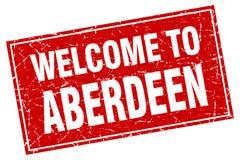 Welcome to Aberdeen stamp. Welcome to Aberdeen square grunge stamp. Aberdeen sign. welcome to Aberdeen vector illustration