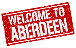 Welcome to Aberdeen stamp Royalty Free Stock Image