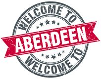 Welcome to Aberdeen stamp. Welcome to Aberdeen round grunge stamp isolated on white background. Aberdeen royalty free illustration