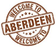 Welcome to Aberdeen stamp. Welcome to Aberdeen round grunge stamp isolated on white background. Aberdeen. welcome to Aberdeen vector illustration