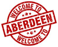 Welcome to Aberdeen stamp. Welcome to Aberdeen round grunge stamp isolated on white background. Aberdeen. welcome to Aberdeen royalty free illustration