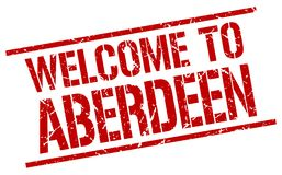 Welcome to Aberdeen stamp. Welcome to Aberdeen square grunge stamp isolated on white background. Aberdeen vector illustration