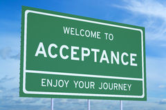 Welcome to Acceptance concept Royalty Free Stock Photos
