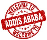 Welcome to Addis Ababa stamp. Welcome to Addis Ababa round grunge stamp isolated on white background. Addis Ababa. welcome to Addis Ababa