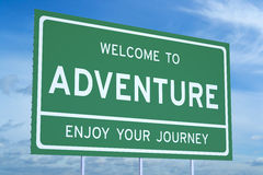 Free Welcome To Adventure Concept Stock Images - 63026384