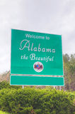 Welcome to Alabama the Beautiful sign Stock Images