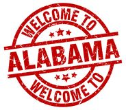 welcome to Alabama stamp Royalty Free Illustration