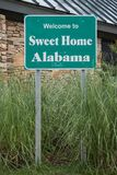 Welcome to Alabama Sign Royalty Free Stock Photos