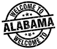 welcome to Alabama stamp Stock Illustration