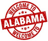 welcome to Alabama stamp Vector Illustration