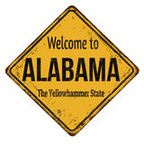 Welcome to Alabama vintage rusty metal sign Stock Image