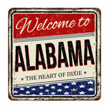 Welcome to Alabama vintage rusty metal sign Stock Photography