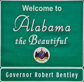 Welcome To Alabama w\\ Governor Royalty Free Stock Photo