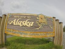 Welcome to Alaska Stock Image
