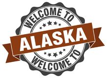 Welcome to Alaska seal Stock Images