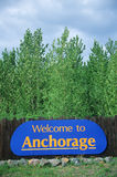 Welcome to Alaska Sign Stock Image