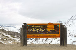 Welcome to Alaska sign Stock Images
