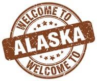 Welcome to Alaska stamp. Welcome to Alaska round grunge stamp isolated on white background. Alaska. welcome to Alaska