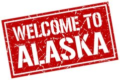 welcome to Alaska stamp Vector Illustration