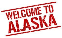 welcome to Alaska stamp Royalty Free Illustration