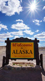 Welcome to Alaska state concept Stock Images