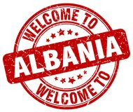 Welcome to Albania stamp. Welcome to Albania round grunge stamp isolated on white background. Albania. welcome to Albania