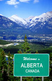 Welcome to Alberta sign Stock Photo