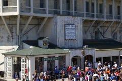 Welcome to Alcatraz Stock Image